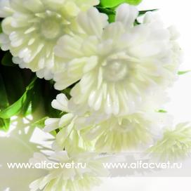 букет пластиковый хризантемы цвета белый 6