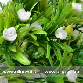 букет пластик с розами цвета белый 6