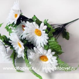 искусственные цветы букет ромашек цвета белый 6