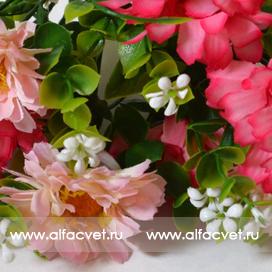 герберы с добавкой пластика цвета розовый с белым 14