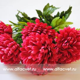 искусственные цветы хризантемы цвета малиновый 11