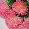 искусственные цветы хризантемы цвета розовый 5