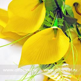букет каллы цвета желтый 1