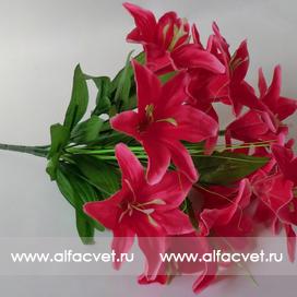 искусственные цветы лилии цвета малиновый 11