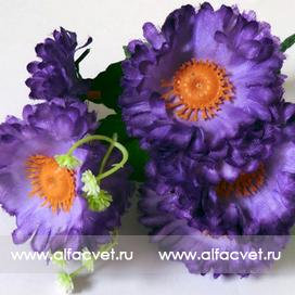 букет маргаритка-фиалка с добавкой цвета фиолетовый 7