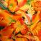искусственные цветы орхидеи цвета оранжевый 2