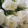 искусственные цветы розы цвета белый 6
