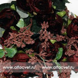 букет роз цвета коричневый 63