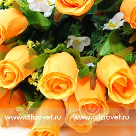 букет роз цвета желтый 1