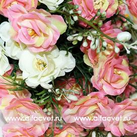 букет роз цвета розовый с белым 14