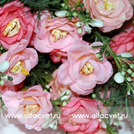 букет роз цвета темно-розовый с розовым 45