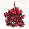 искусственные цветы розы цвета малиновый 11