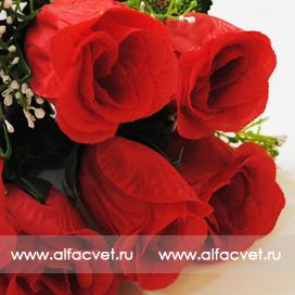 искусственные цветы розы цвета красный 4