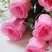 искусственные цветы розы цвета розовый 5