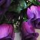 искусственные цветы розы цвета фиолетовый 7