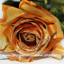 роза с блестками цвета золотой 62