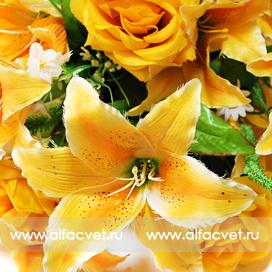 роза-лилия цвета желтый 1