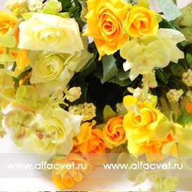 маленькие розы цвета желтый 1