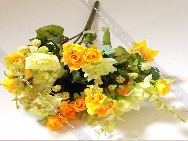 Розы орнжевые желтые искусственные купить розы хамелеоны пекинская купить прикосновение