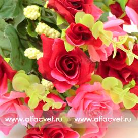 маленькие розы цвета красный 4