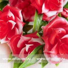 букет роз пластик цвета красный 4