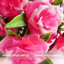 букет роз пластик цвета розовый 5