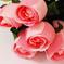 искусственные цветы розы с каплями цвета розовый 5