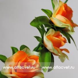 ветки роз цвета оранжевый с кремовым 23