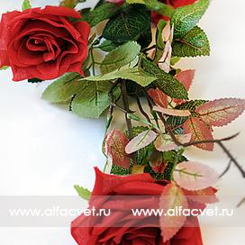 ветка роз цвета красный 4