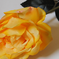искусственные цветы роза цвета желтый 1