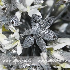 шар серебро цвета белый 6