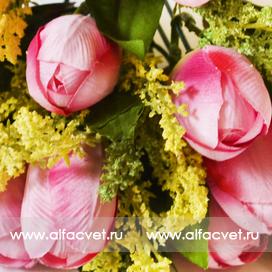 букет тюльпанов цвета розовый 5