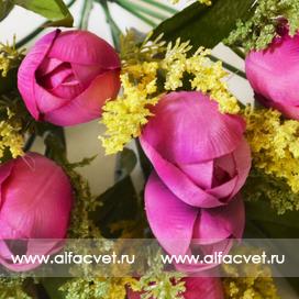 букет тюльпанов цвета фиолетовый 7