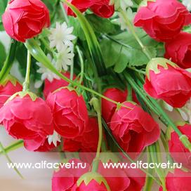 тюльпаны цвета темно-розовый 10