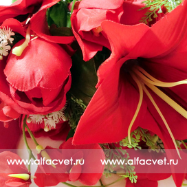 тюльпаны-лилии цвета красный 4