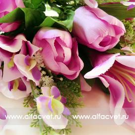 тюльпаны-лилии цвета фиолетовый 7