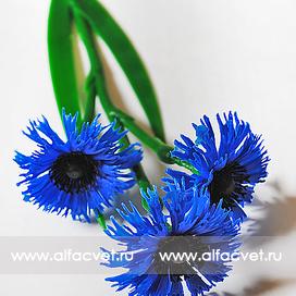 василек ветка (пластмассовая) цвета синий 12