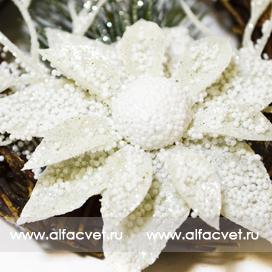 рождественский венок цвета белый 6
